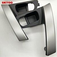 SKTOO Car Door Handle Base Internal Handle Silver Handle Cover for Nissan QASHQAI J10 2007 2008 2009 2010 2011 2012 2013 2014