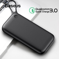 Baseus Power Bank 20000mah Quick Charge 3.0 Portable Phone Charger Dual USB External Battery Bank For iPhone Xs Max Samsung S9