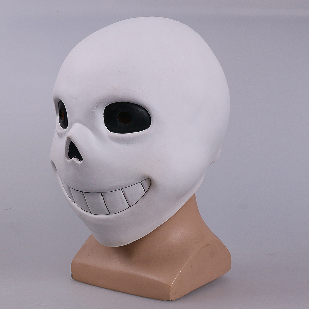 Full head Undertale Sans Latex Masks Cosplay Funny White Helmets Shores Of Halloween Party Fancy Christmas Balls (12)
