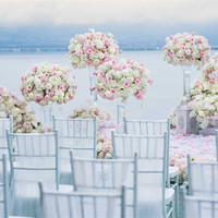 hot pink wedding flower arrangement dia of 40cm flower bouquet wedding decoration Table centerpieces 4pcs/lot