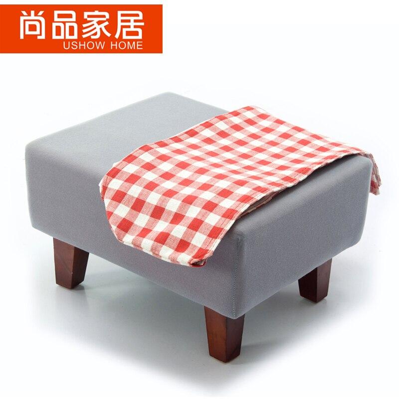 Fabric sofa foot stool clothing store sofa stool step stool living ...