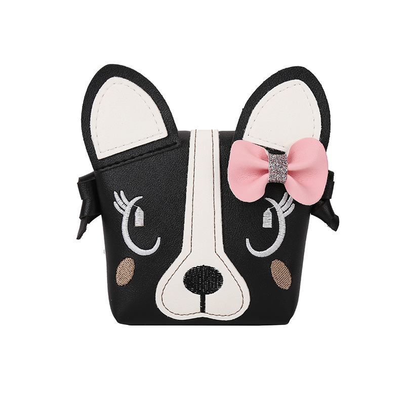 Children Shoulder Bag Baby Girls Messenger Bags PU Leather Crossbody Bags Girls Mini Cute Handbag Fashion Cute Dog Shape Bag shoulder bag