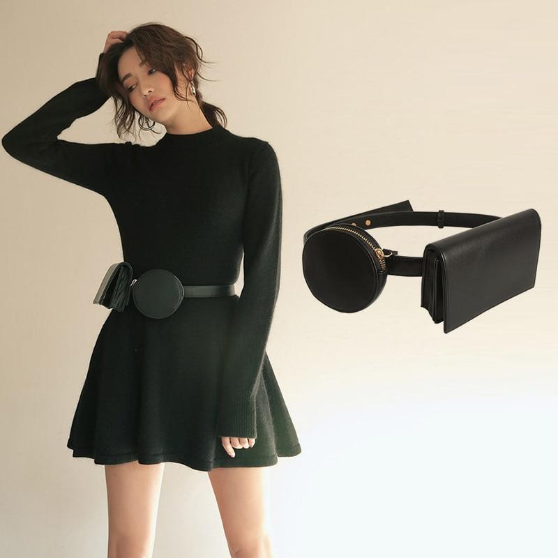 все цены на women waist packs belt bag female shoulder crossbody bag messenger bags for women 2018 PU passport cover ladies purse