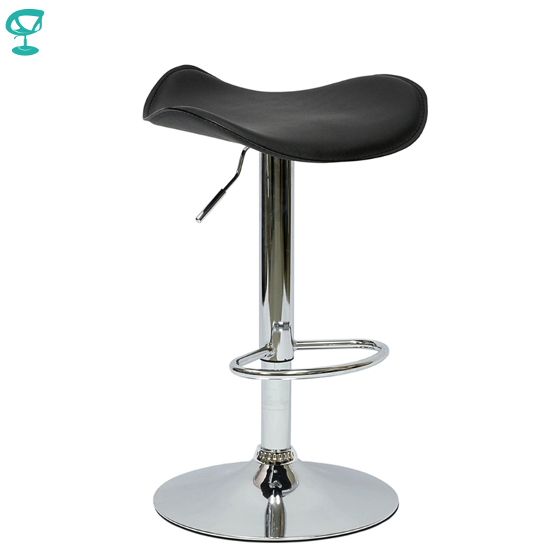 94905 Barneo N-15 Leather Kitchen Breakfast Bar Stool Swivel Bar Chair Black Color Free Shipping In Russia
