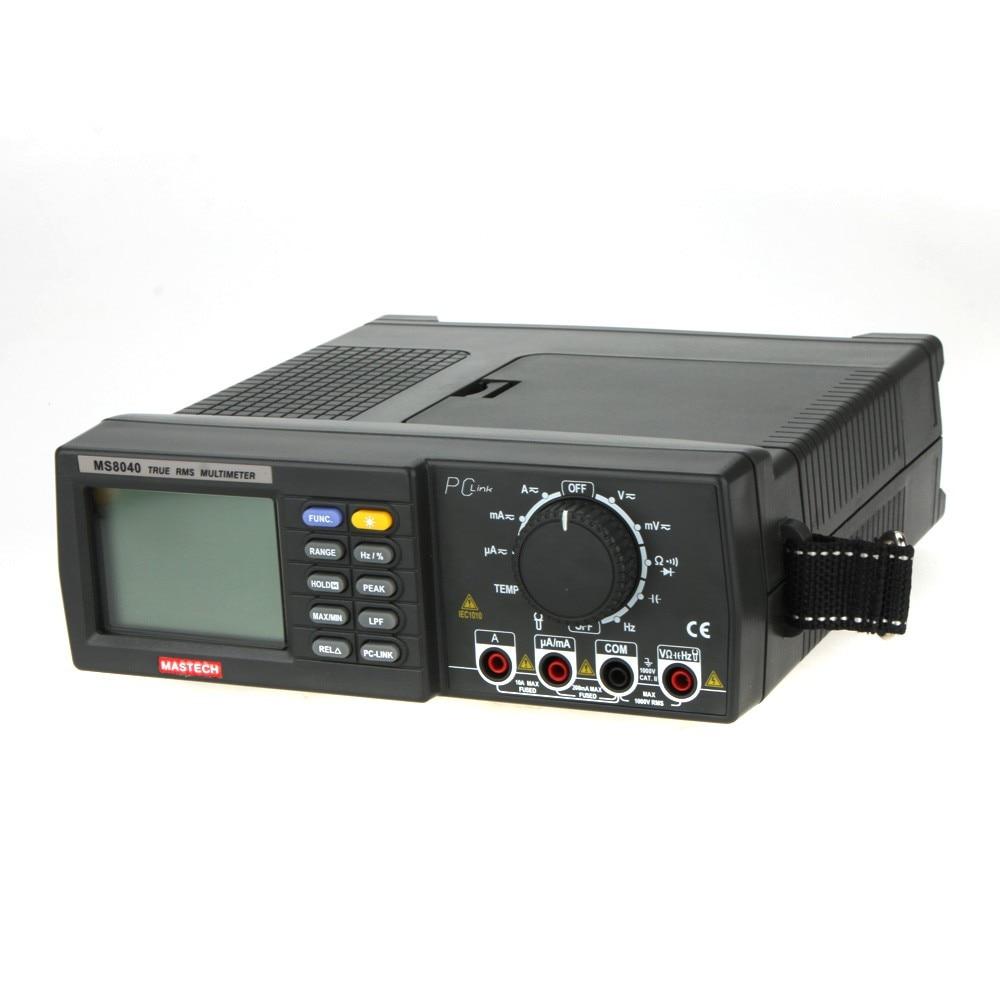 MASTECH MS8040 Vrai RMS DMM Banc Top Multimètres 22000 Comtes Auto Ranging w/Cap. Freq. Test de Température