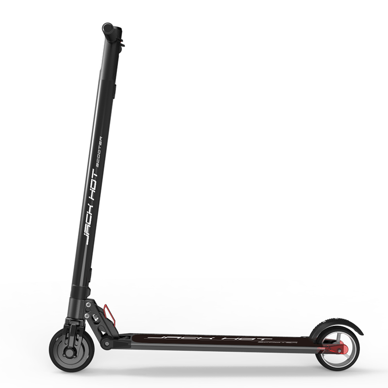 2017 Jackhot E Jack Light Carbon Fiber Electric Scooter with 10.4AH Lithium Battery with front suspension 24v 300w 2 10 35km luggage folding carbon fiber electric scooter adult kid school working vehicles travel 2 wheel lithium ion