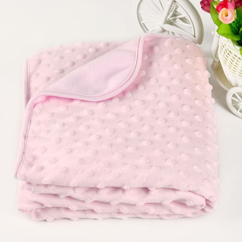 Coral Fleece Newborn Baby Blanket Swaddle Wrap Super Soft