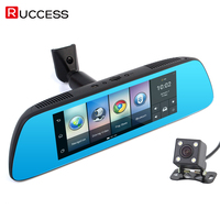 Ruccess 3G Special Rearview Mirror Car DVR Dash Camera Android 5 0 GPS Navigator Europe 7