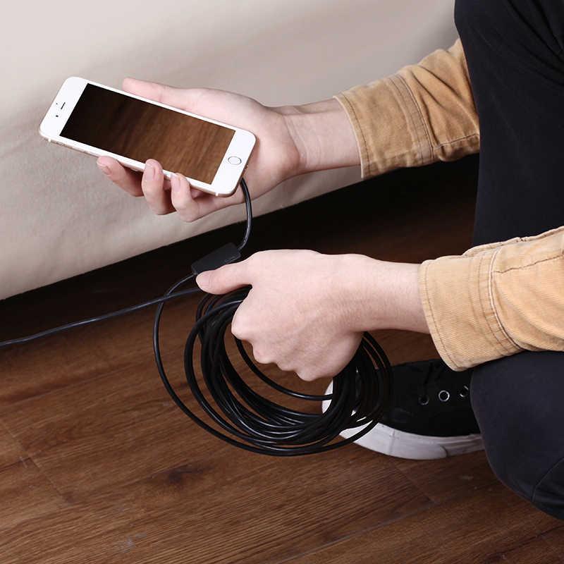 5,5 мм все микро-usb для устройств на аndroid USB Type C 3-в-1 электронный эндоскоп бороскоп трубка IP68 Водонепроницаемый USB инспекции Спортивная мини-видеокамера на Камера