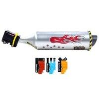 6 tipos de turbina de bicicleta da motocicleta escape da motocicleta efeitos sonoros tubo de escape som com ajustável motocard|Ferramentas p/ reparo de bicicletas| |  -