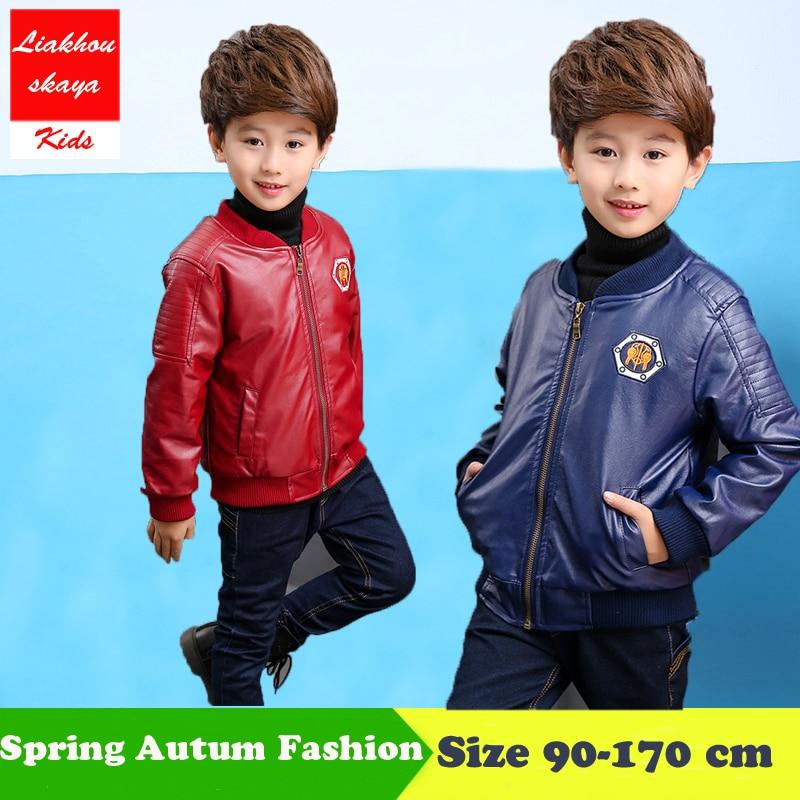 Liakhouskaya 90-170 Djeca Topovi Pu Fleece Koža Dječje Zimske jakne - Dječja odjeća