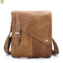 Geschäfts Echtes Leder Männer messenger Bags Marke Hochwertige Mode Für Männer Umhängetasche Lässig Vintage Aktentasche Laptoptasche