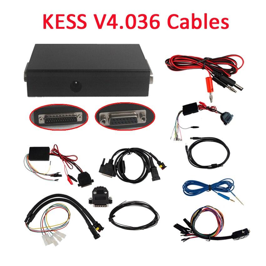 Prix pour 2015 Aucun Jeton Limitation KESS V2.28 V2.31 Câbles Sans Maître OBD2 Gestionnaire Tuning Kit KESSV4.036 Câbles Ecu Chip Tunning