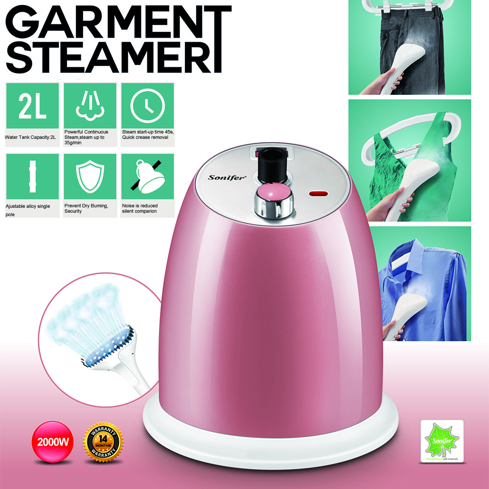 Large size Garment Steamers High quality 9 Gear Adjustable home Hanging Vertical Steam Iron Brush machine Sonifer