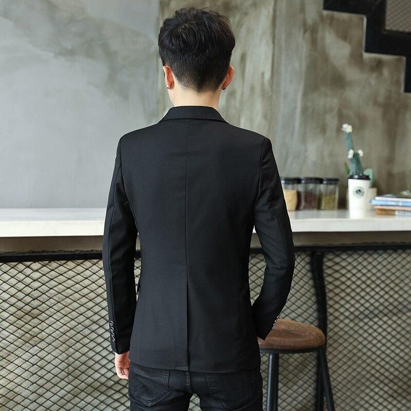 Solid Color Blazer Jacket Men 2018 Leisure Slim Fit Blazer Masculino Single Button Casual Jaqueta Masculino Red blue Black M-3XL