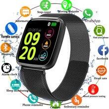 2019 ساعة ذكية الرجال مقاوم للماء ضغط الدم شاشة تعمل باللمس كبيرة Smartwatch النساء معدل ضربات القلب جهاز مراقبة اللياقة الرياضية ساعة يمكن ارتداؤها