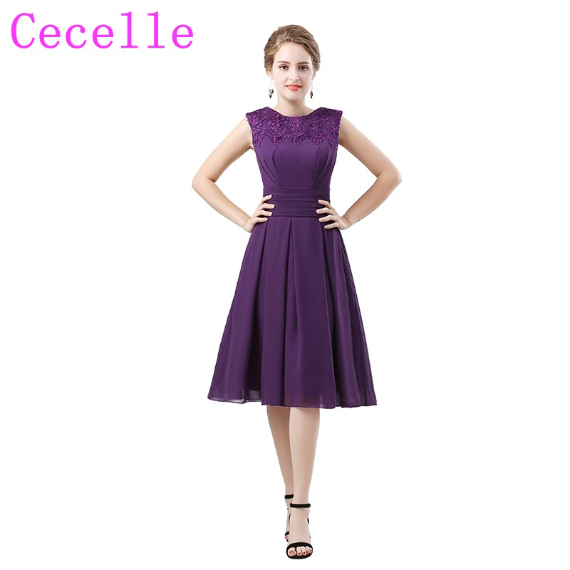 Purple High Low Informal Bridesmaid Dresses Spaghetti Straps Informal beach  Chiffon Short Front Long Back Maids ... 47a0ed2308e2
