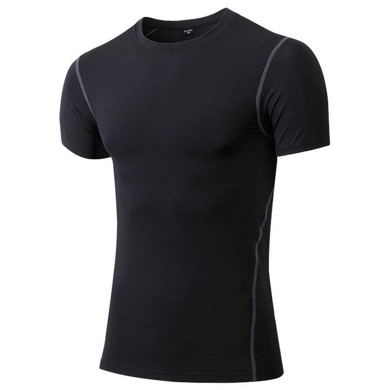 Aipbunny Elastic Tights Fitness Yoga T-Shirt Men Short Sleeve Soccer Basketball Running Sport Jerseys Compression Gym sportswear