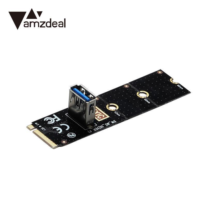 AMZDEAL NGFF M.2 Slot To USB3.0 PCI-E Riser Card M2 Slot Extender Adapter For BTC/ETH Mining