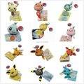 """Бесплатная Доставка 10/Lot 12 Стиль Poke Кукла Пикачу Psyduck Bulbasaur Charmander Squirtle Jolteon Raichu Брелок Плюшевые Куклы 2.5"""""""