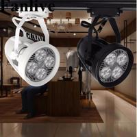 10 ピース LED トラックライト 35 ワット 40 ワット衣料品店 Led スポットライト Par30 トラックガーゼレールライト AC85 265v 展示ホールショップライト -