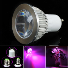 E27 E14 GU10 5W 4Red:2Blue SMD LED Grow Light Lamp for Flowering Plant and Hydroponics System 85-265V Free Shipping