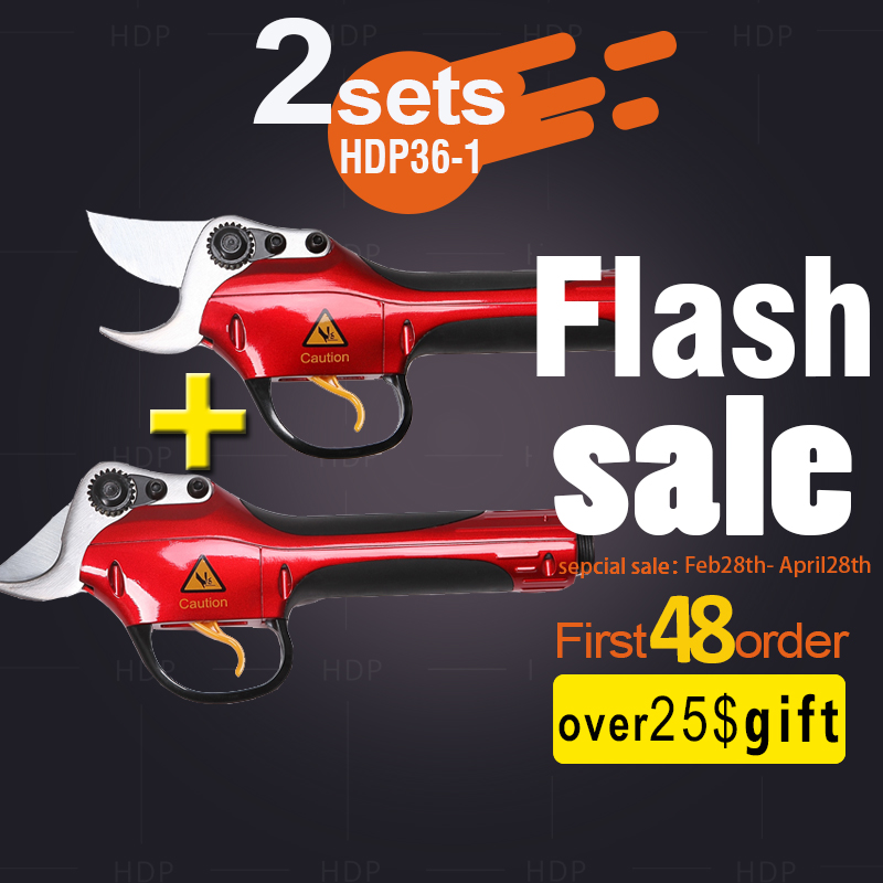 Lithium battery orchard secateurs best garden tools electric scissors two sets link (CE Certificate)