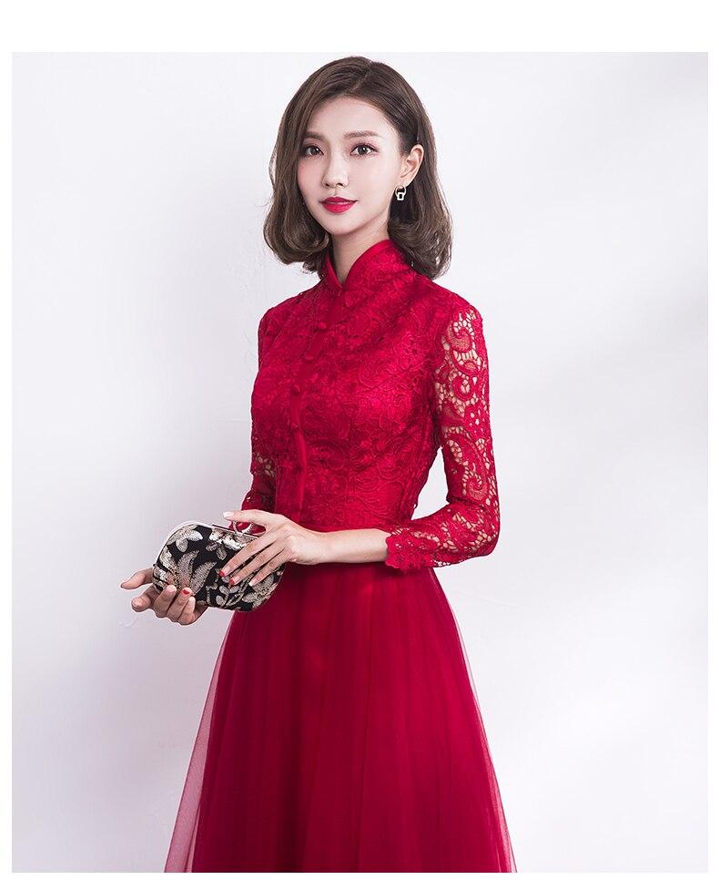 1c982734b Compre Chino Tradicional Vestido De Novia Cheongsam Long Qipao Novia ...
