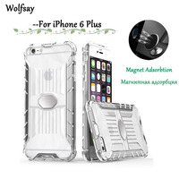 Wolfsay Magnetic Case For iPhone 6 Plus Cover Soft TPU & Hard PC Car Holder Adsorption Fundas sFor Case iPhone 6 Plus 6s Plus