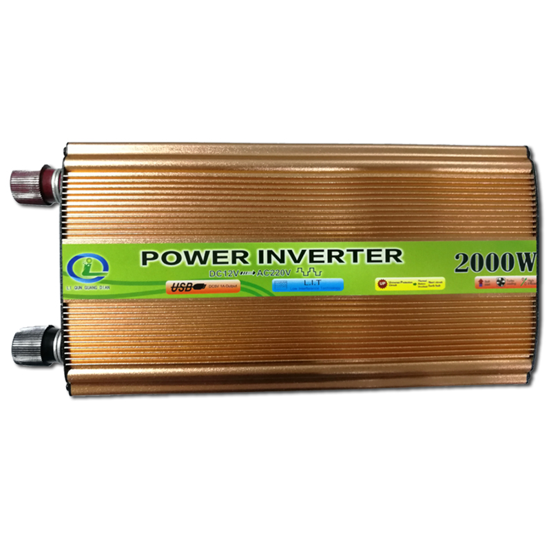 NICUN Led Display 2000W Inverter Car Vehicle Voltage Inversor DC 12V to AC 220V Power Inverters Adapter Car Travel Converter ukc led digital display 1000w car power solar lighter inverter converter 12v dc to ac 220v usb charger adapter portable voltage