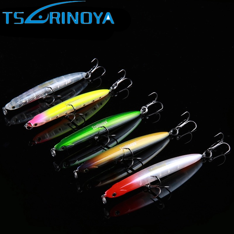 Trulinoya Small Pencil Lure 65mm 5g Top Water Hard Fishing Lure Wobbler Outdoor Fishing Colorful Artificial Bait Fishing Tackle 1pcs 6cm 4 5g top water fishing lure