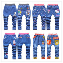 Autumn 2016 new youngsters's clothes boy pants wholesale youngsters's denims trousers for girls and boys 2-7Y