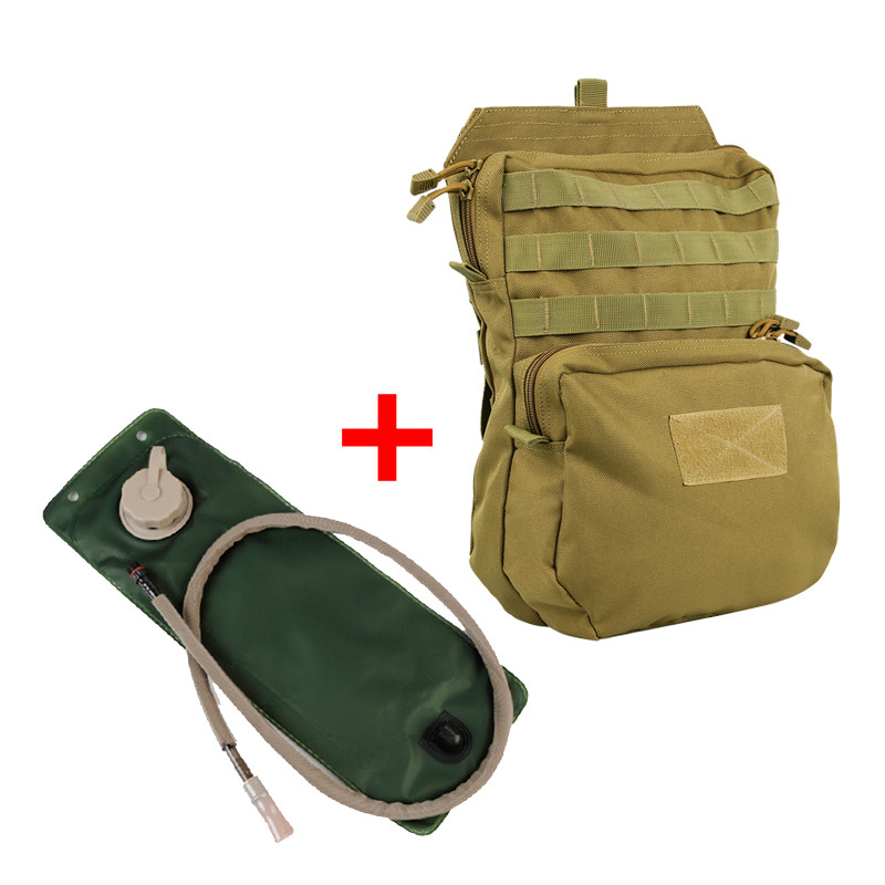 Molle Tactical Vest Hydration Backpack With 3L Hydration Water Bladder Pouch Reservoir Fishing Cycling Hunting Bag Pack ultimate arms gear dark earth tan tactical scenario military hunting assault vest w right handed quick draw pistol holster and heavy duty mag pouch belt od olive drab green 2 5 liter 84 oz replacement hydration backpack water bladder reservoir in