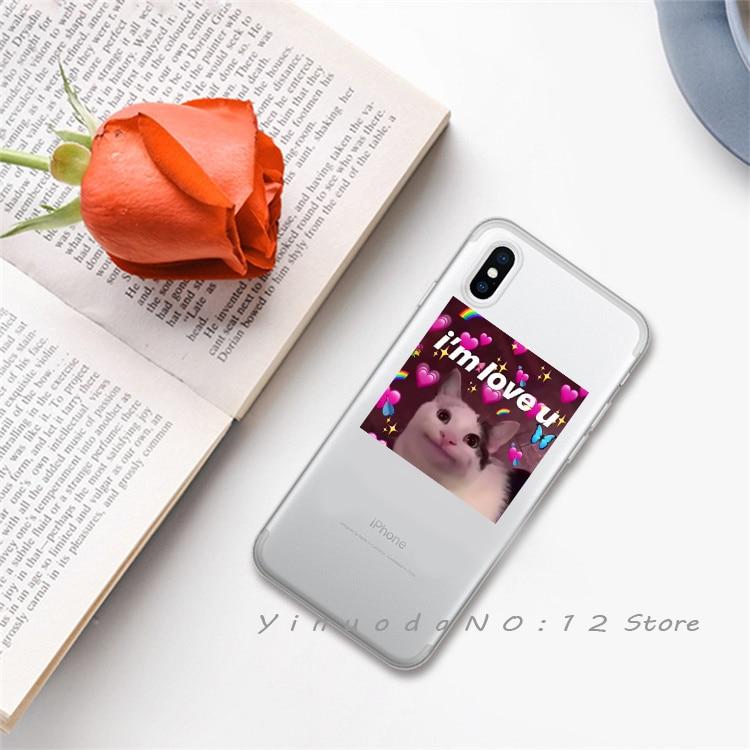 Yinuoda супер милый кот собака мультфильм розовый в форме сердца ты и я серия HD Прозрачный чехол для телефона для iphone 6 7 8 Plus X XS XSMax 5S - Цвет: 2