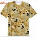 Alisister Harajuku Women/Men Funny Head Doge 3D Short Sleeve T-shirt Deus God Dog/shiba Inu Print 3D Tees Tops Plus Size
