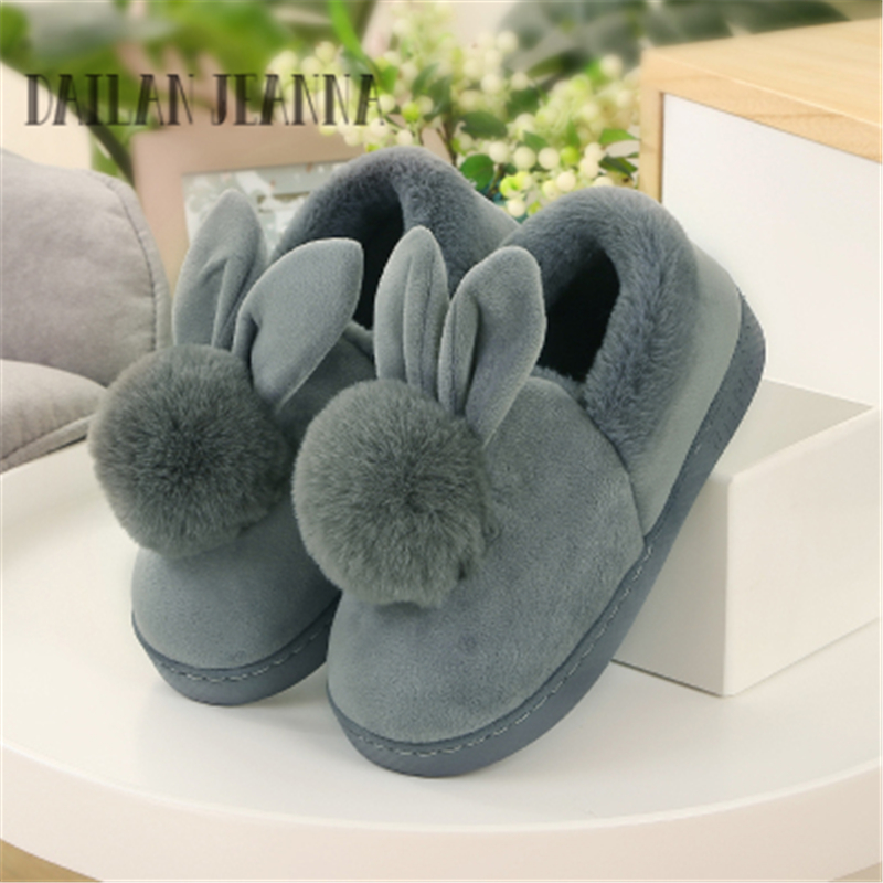 2017 New Warm Flats Soft Sole Women Indoor Floor Slippers/Shoes Animal Shape White Gray Cows Pink Flannel Home Slippers
