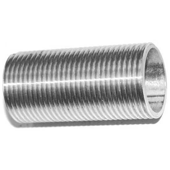 Male Length Straight Nipple Joint Pipe Connection 304 Stainless Steel Connector Fittings,100MM,DN20