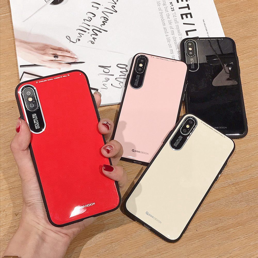 Glossy TPU Case For iPhone 7 8 X Xs XR Xs Max Case TPU Business Cover For iPhone 7 Plus 8 Plus 6 6s 6 Plus 6s Plus Phone Case in Fitted Cases from Cellphones Telecommunications