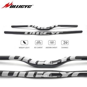 Image 1 - Ullicyc كامل الكربون الألياف المقود 3K دراجة MTB المقود شقة/الارتفاع الفضة أجزاء الدراجة 31.8*600/620/640/660/680/700/720 CB186