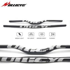 Image 1 - Ullicyc Full Carbon Fiber Handlebar 3K Bicycle MTB Handlebar Flat/Rise Silver Bike parts 31.8*600/620/640/660/680/700/720 CB186