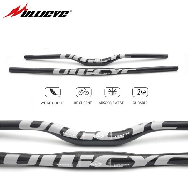 Ullicyc Full Carbon Fiber Handlebar 3K Bicycle MTB Handlebar Flat/Rise Silver Bike parts 31.8*600/620/640/660/680/700/720 CB186
