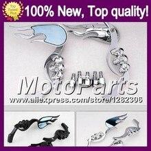 Ghost Skull Mirrors For DUCATI 620 750 800 900 620S 750S 800S 900S 620 S 750 S 800 S 900 S Skeleton Rearview Side Mirror