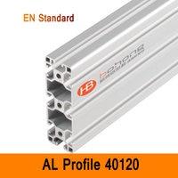40120 Алюминиевый Профиль EN промышленный стандарт DIY кронштейны алюминиевые AL экструзии CNC 3D DIY принтер рамка t слот алюминиевая труба