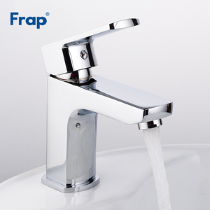 Image 3 - Frap Basin Faucets Chrome Stainless Steel Bathroom Basin Faucet Tap Sink Mixer Faucet Vanity Hot and Cold Water Brass Tapware
