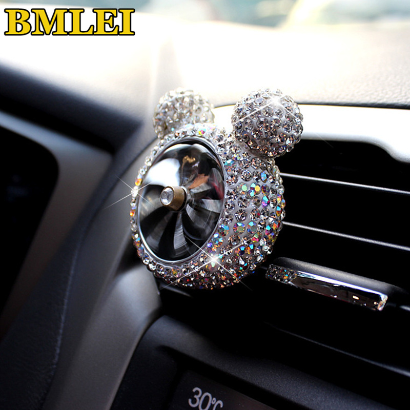 Creative Bling Crystal Car Outlet Vent Clip Air Freshener Perfume Car Styling Interior In Auto