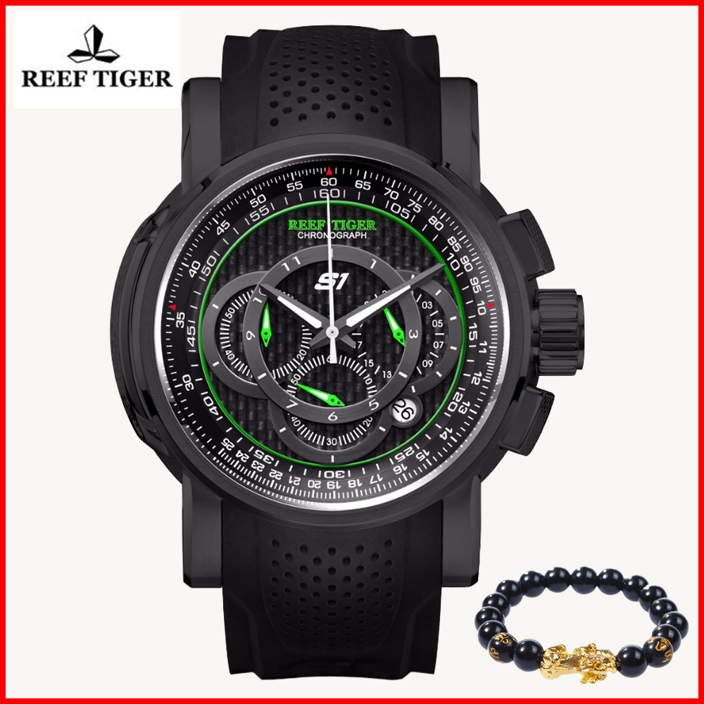 2019 Reef Tiger Men Fashion Watches Top Brand Luxury Sport Chronograph Date Steel Rubber Mens Quartz Watch Relogios Masculinos2019 Reef Tiger Men Fashion Watches Top Brand Luxury Sport Chronograph Date Steel Rubber Mens Quartz Watch Relogios Masculinos