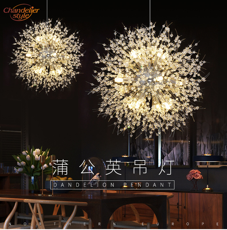 Modern Crystal Chandelier Lighting Globe Cristal Chandeliers Light Round Hanging Lamp Fixtures for Home Restaurant Decoration