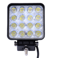 1pcs 48W LED Work Light For Indicators Motorcycle 30 Flood Beam Driving Offroad Boat Car Tractor