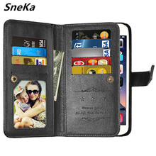 Enjoy 7S case for Huawei P Smart cover leather wallet Flip Multi-card cases for Huawei P Smart case FIG-LX1 FIG-L21 FIG L21 LX1 skinbox slim silicone 4people чехол для huawei p smart enjoy 7s transparent
