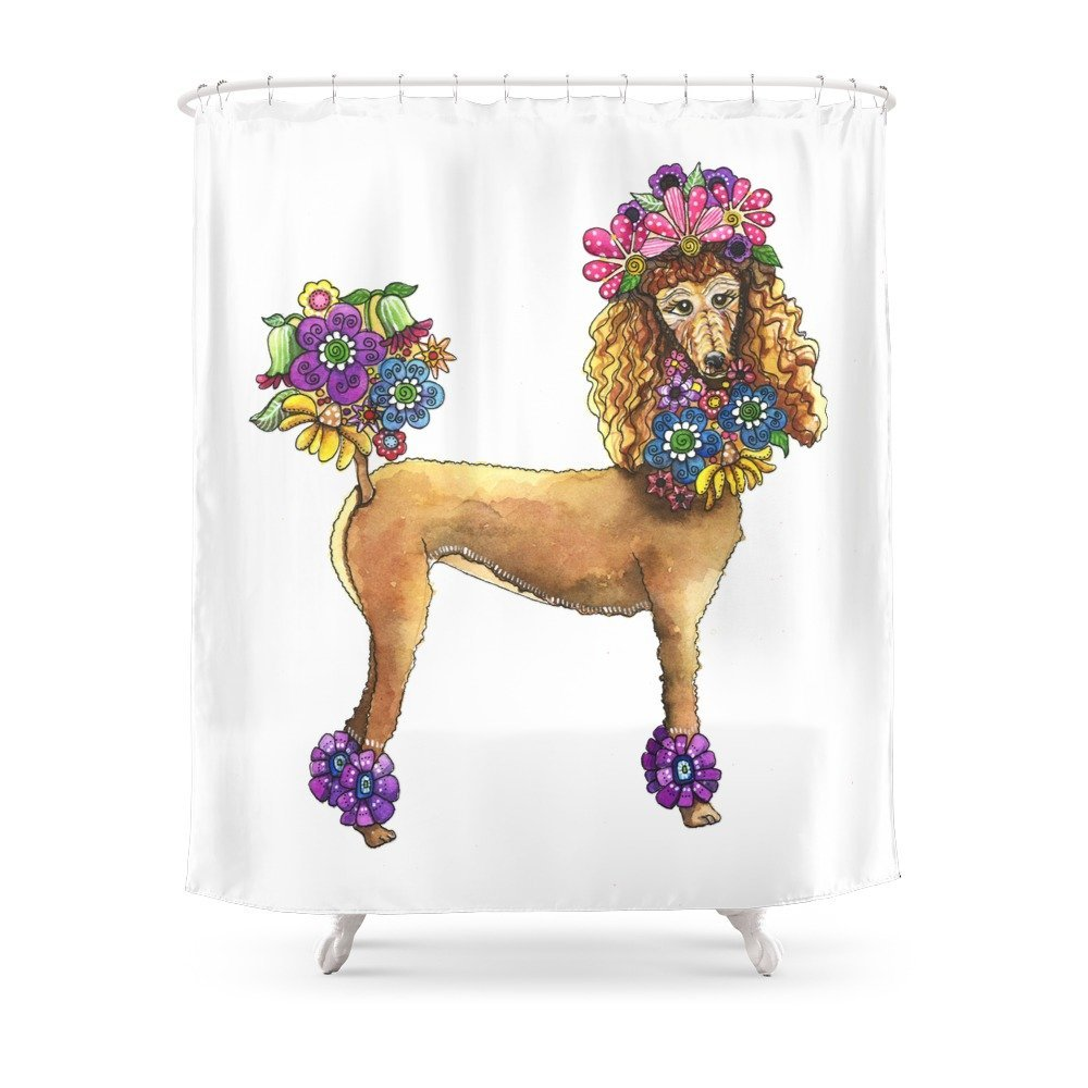 Poodle Dee Doo Shower Curtain Polyester Fabric Bathroom Home Decoration Waterproof Print Curtains With Hooks In From Garden On